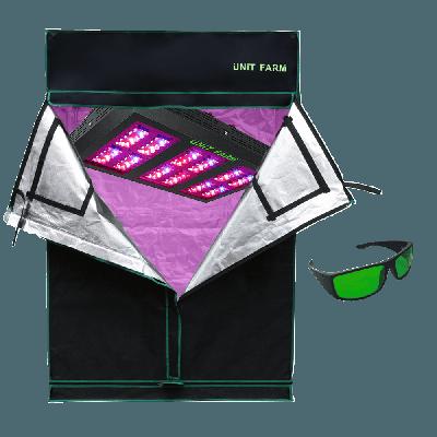 UFO-120 Led Grow Light and Grow Tent 2x4x6ft (120x60x180cm)
