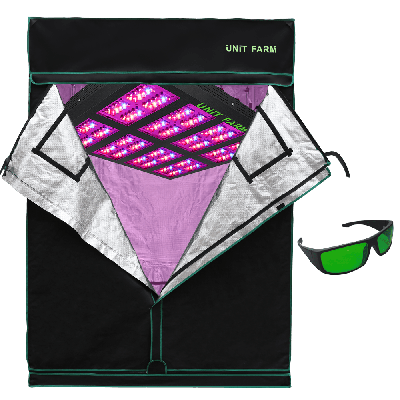 UFO-320 Led Grow Light and Grow Tent 5x5x7ft (150x150x210cm)