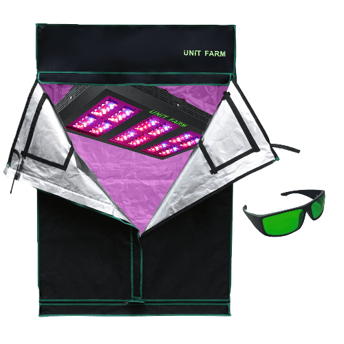 UFO-120 Led Grow Light and Grow Tent 2x4x6ft (120x60x180cm)