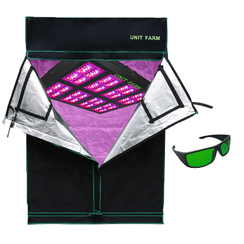 UFO-320 Led Grow Light and Grow Tent 4x4x7ft (120x120x210cm)
